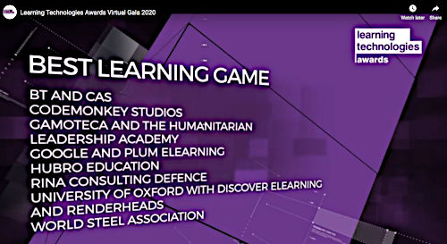 Image of Nominees for Best Learning Game.