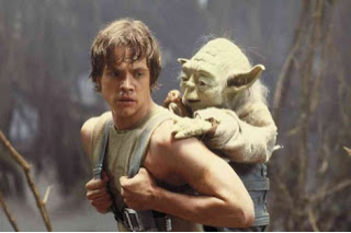 Image of Luke Skywalker and Master Yoda.