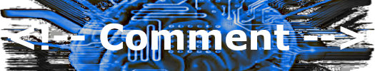 Image of a printed circuit with the word 'comment'.