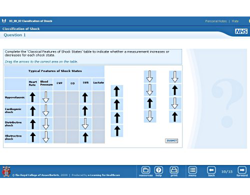 Image of an e-learning drag-and-drop question.