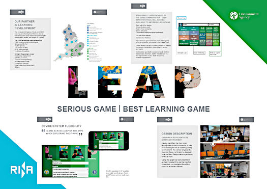 Sample pages from Learning Technologies Awards submission.