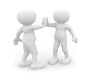 Image of a two characters shaking hands.