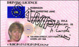 Image of a UK Driving Licence.